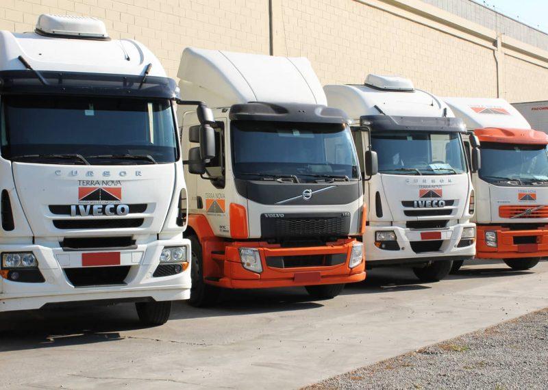 caminhoes transporte de cargas frota logística terra nova